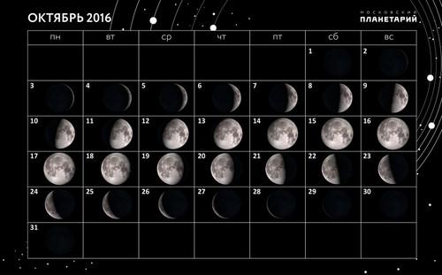 Лунный календарь рыболова октябрь 2016