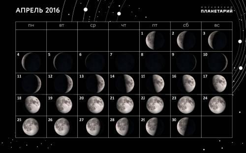 Лунный календарь рыболова апрель 2016