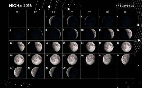 Лунный календарь рыболова июнь 2016