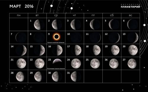 Лунный календарь рыболова март 2016