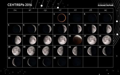 Лунный календарь рыболова сентябрь 2016